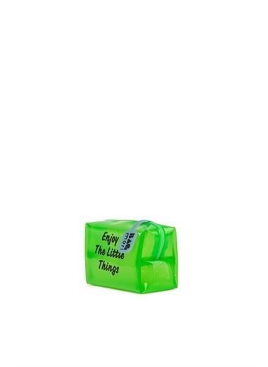 Bagmori  Kadın Baskılı Mini Makyaj Çantası M000006240 Yeşil